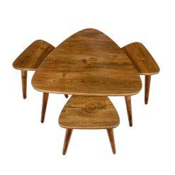 میز جلو مبلی مثلثی آنتیک طلایی