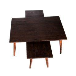 میز جلو مبلی مستطیل قهوه ای (ونگه) کد A5-BR