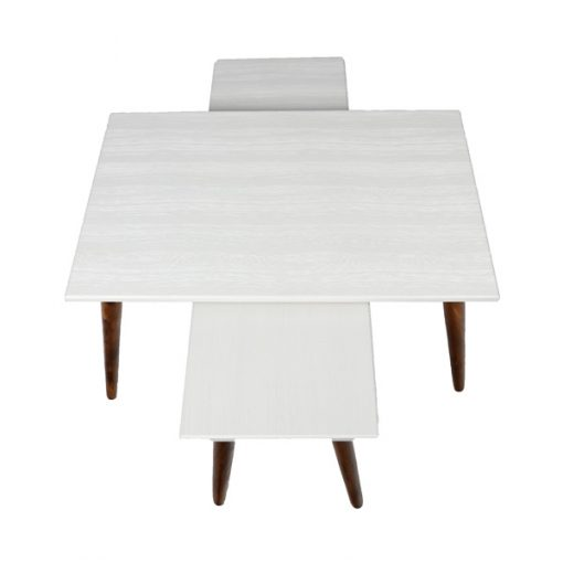 میز جلو مبلی مستطیل سفید