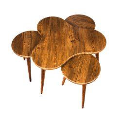 میز جلو مبلی طرح گشنیز آنتیک طلایی کد A8-AN