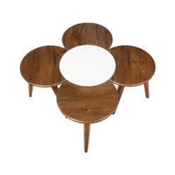 میز عسلی پنج تکه طرح گل کد D14