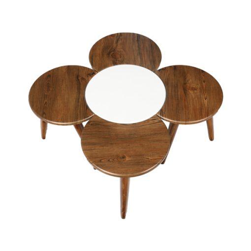 میز عسلی پنج تکه طرح گل