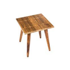 میز عسلی مستطیل طرح دار آنتیک طلایی کد D6-AN