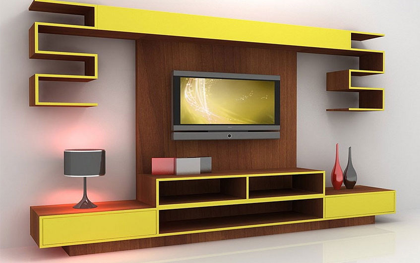 رنگ آمیزی متفاوت میزهای تلویزیون