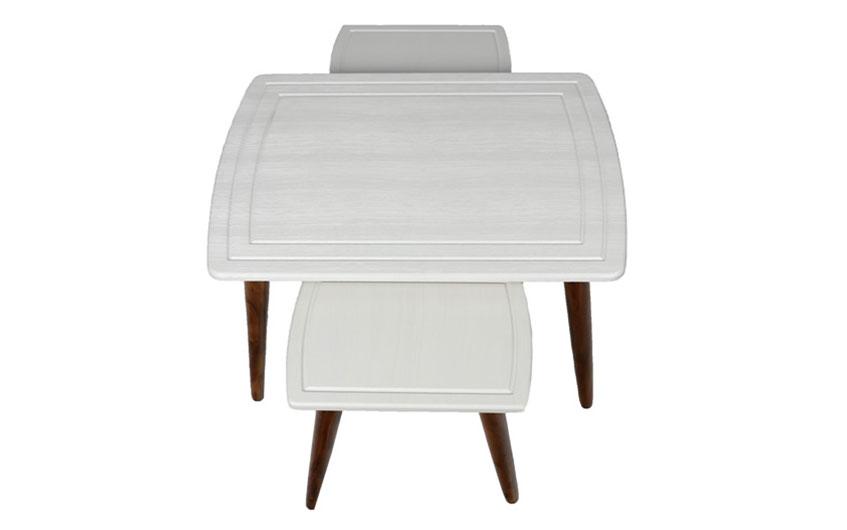 انتخاب میز جلو مبلی ساده چوبی
