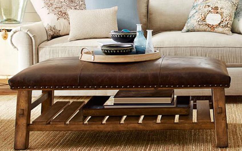 استفاده از میز جلو مبلی چرمی