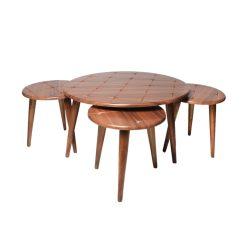 میز جلو مبلی گرد طرح دار والیس کد A2-WA
