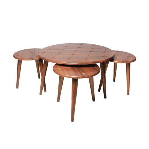 میز جلو مبلی گرد طرح دار والیس