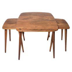 میز جلو مبلی مربع منحنی آنتیک طلایی کد A20-AN