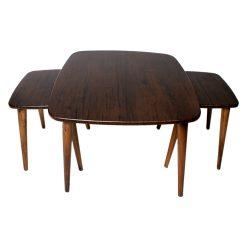 میز جلو مبلی مربع منحنی قهوه ای ونگه کد A20-BR