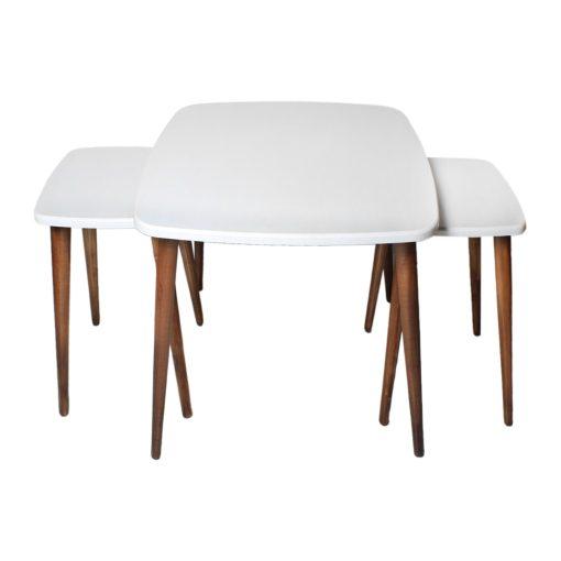 میز جلو مبلی مربع منحنی سفید A20-wh