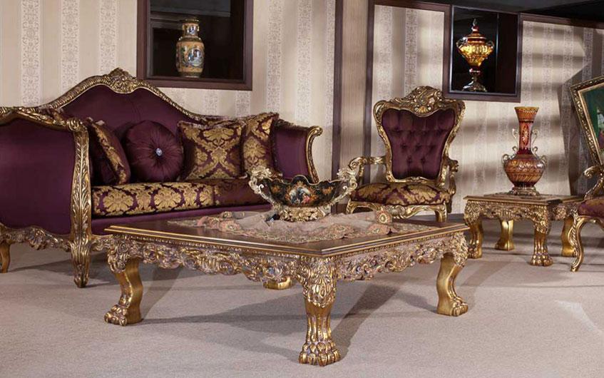 راهنمای خرید میز عسلی و جلو مبلی مناسب مبل سلطنتی