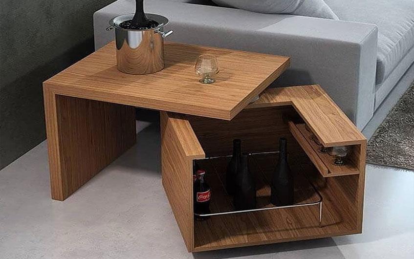 میز کنار مبلی با طراحی خاص و جدید
