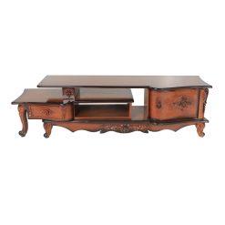 میز تلویزیون ۱۳۰ سانت دو تکه منحنی شاندیز مدل SH106